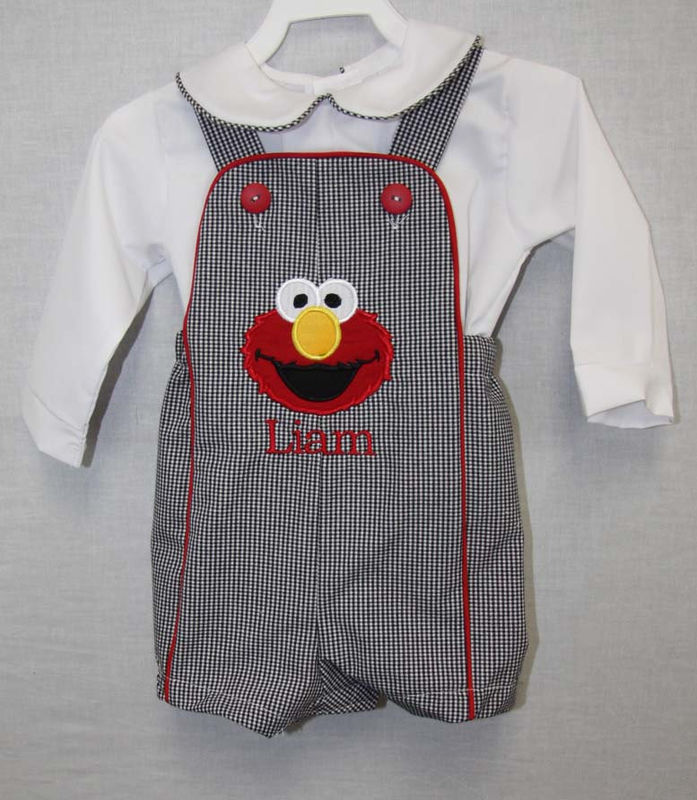 Elmo Birthday Outfit, Baby Boy Clothes, Elmo Birthday Shirt,Sesame Street Birthday 292134 - product images  of