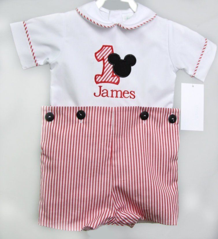 Mickey Mouse 1st Birthday Outfit First