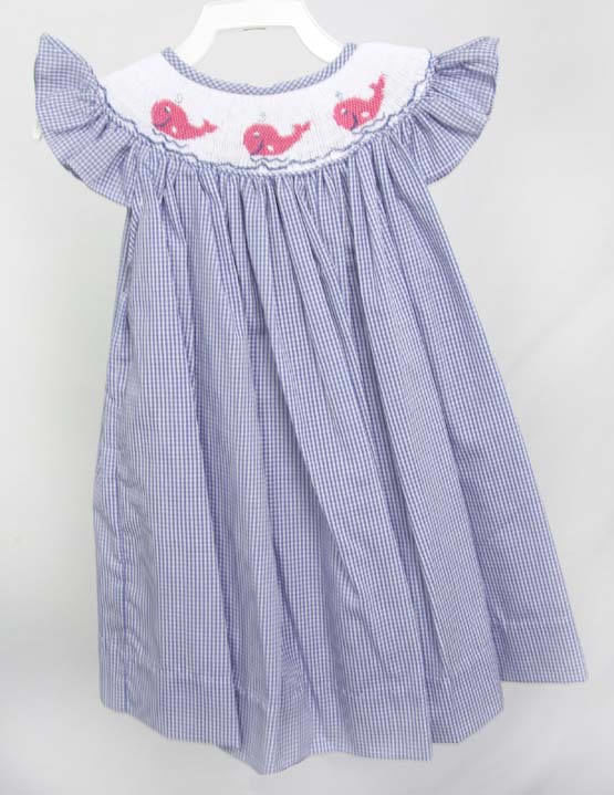 Whale Birthday, Smocked Dresses, Smocked Baby Dresses 412619-CC195 - product images  of