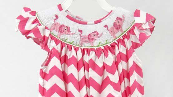 Elephant Dress, Baby Girl Clothes, Baby Girl Easter Outfit 412615-CC191 - product images  of