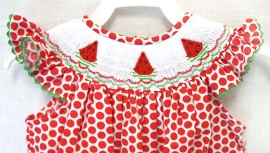 Baby Girl Summer Dresses, Baby Girl Clothes, Smocked Bishop Dress  412140 -A140 - product images  of
