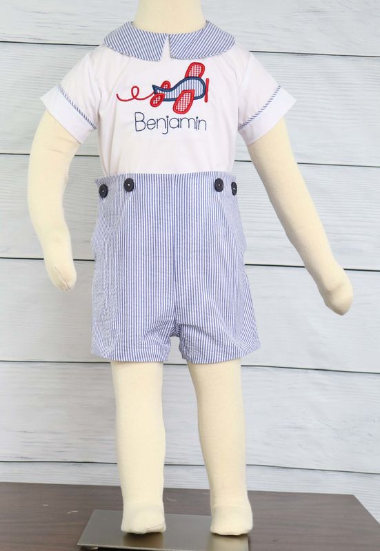 aaf8b47fa Time Flies First Birthday or Airplane Birthday Party, 1st Birthday Boy  Outfit 292967 - Zuli Kids Clothing