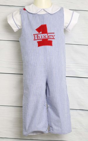 First,Birthday,Outfit,Boy,,Toddler,Boy,Outfit,,1st,292225,Baby Jon Jon- Baby Boy Clothes - Baby Boy Romper -Smocked Jon Jon - Smocked Romper - Smocked Clothing -  Baby Boy Clothes