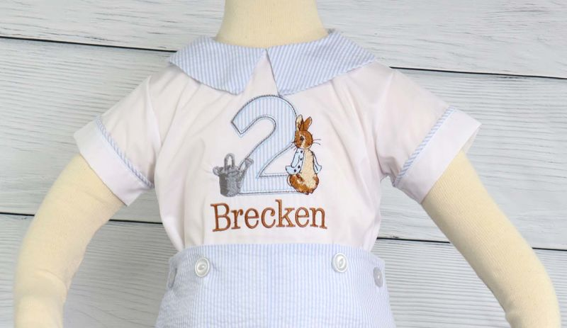 Baby Boy First Birthday Outfits, Peter Rabbit Birthday Outfit, Peter Rabbit Birthday Romper  293708 - product images  of