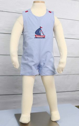 Sailor,Outfit,,Nautical,Clothing,,Baby,Shortalls,,Zuli,Kids,Clothing,292462,Boys Beach Outfit - Baby Clothes - Nautical Baby Boy Rompers - White Beach Portrait