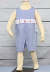 Shortalls,|,Baby,Boys,Outfits,Sailor,Outfit,412027,A009,Sailor Outfit, Shortalls, Baby Boys Outfits, Sailboat Jon Jon - Baby Boy Clothes - Boy Easter Outfits - Easter Jon Jon - Infant Easter - Baby boy romper - Siblings Outfits
