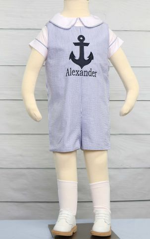 Personalized,Baby,Gifts,,Clothes,,Zuli,Kids,Clothing,292549,Baby Toddler Boys Nautical Sailor Short Suit | Baby Boy Sailor Outfit - Nautical Baby Boy Rompers - Baby Boy Nautical Birthday