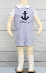 Personalized,Baby,Boy,Clothes,,Zuli,Kids,Clothing,292549,Baby Toddler Boys Nautical Sailor Short Suit | Baby Boy Sailor Outfit - Nautical Baby Boy Rompers - Baby Boy Nautical Birthday