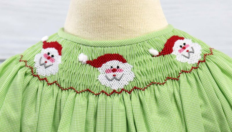 Infant Smocked Christmas Dresses, Smocked Dresses , Smock Dress 412573-CC155 - product images  of