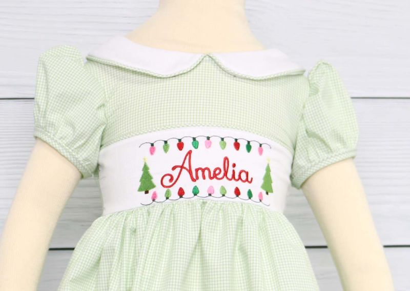Baby Girl Christmas Dress, Toddler Girl Christmas Dress, Christmas Outfits for Siblings 293891 - product images  of