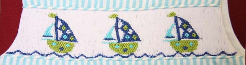 Nautical Baby Clothes, Boys Smocked Clothing, Zuli Kids 412528 - CC031 - product images  of