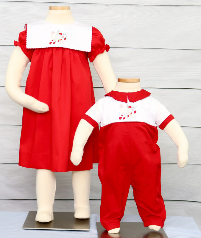 Baby Girl Christmas Dress, Toddler Girl Christmas Dress, Matching Christmas Outfits for Siblings 412877 - DD250 - product images  of