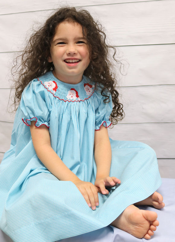 Toddler Girl Christmas Dress,  Smocked Christmas Dress 412876 - DD251 - product images  of