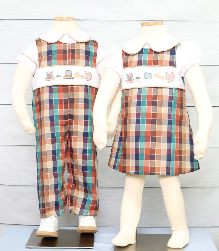 Matching Thanksgiving Outfits for Brother and Sister | Zuli Kids 294065 - product images  of
