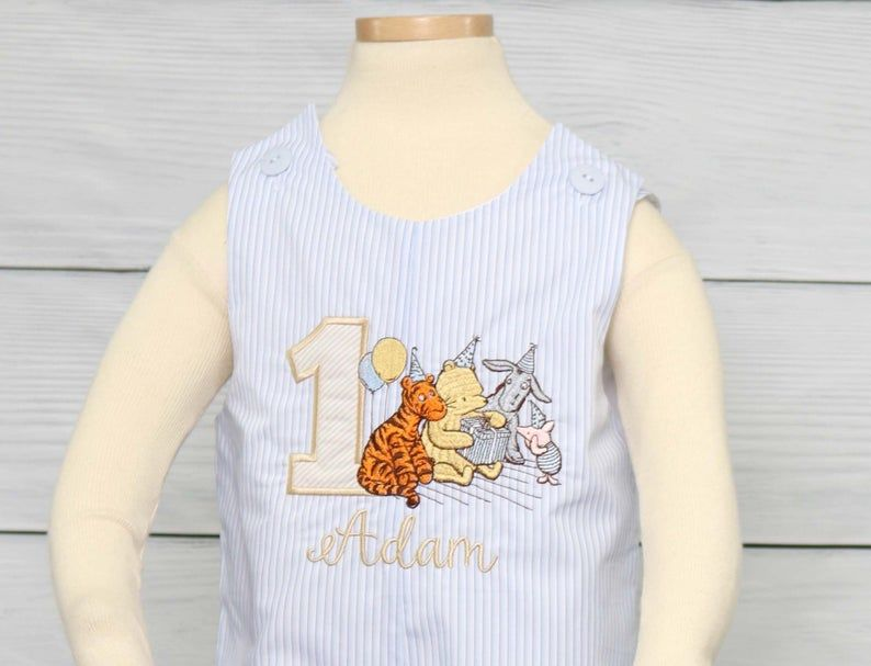 Baby Boy First Birthday Outfit, Winnie the Pooh Birthday 294118 - product images  of
