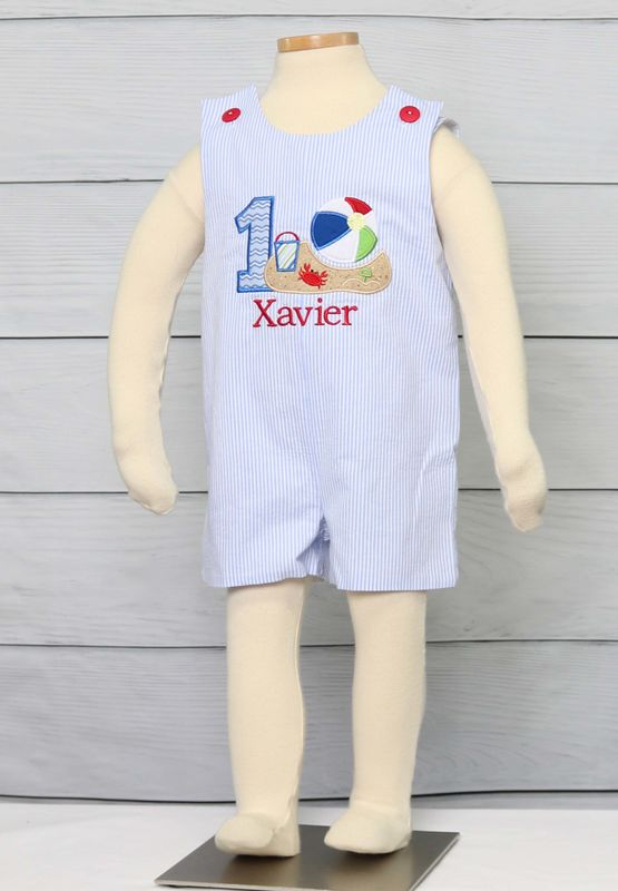 Beach Birthday Party, Baby Boy First Birthday Outfit, 1st Birthday Outfit Boy, Cake Smash Outfit 293058 - product images  of