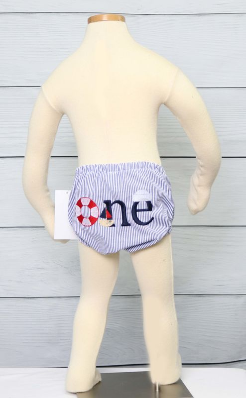Nautical Baby, Diaper Cover, Baby Bloomers, Cake Smash Outfit 294289 - product images  of
