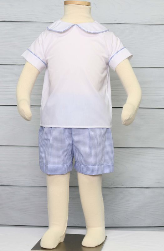 Toddler Boy Easter Outfit, Toddler Boy Baptism Outfit, Toddler Boy Shorts 294311 - product images  of