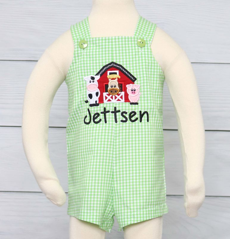 Baby Overalls, Baby Boy First Birthday Outfit, Baby Boy 1st Birthday Outfit, Toddler Rompers 294314 - product images  of