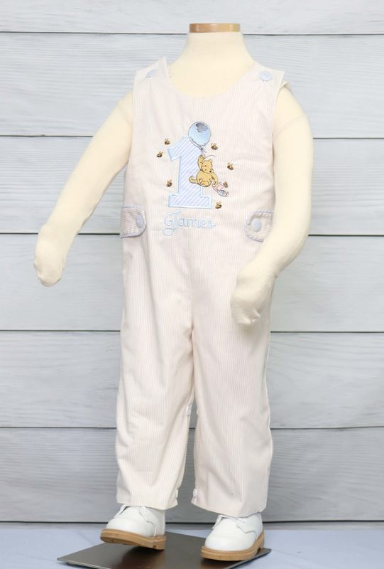 Baby Boy First Birthday Outfit, Winnie the Pooh Birthday 294072L - product images  of