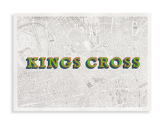 Kings,Cross,(Locomotive,Green),King's cross station, king's cross, london maps, affordable art, coal drops yard, screen print, home decor