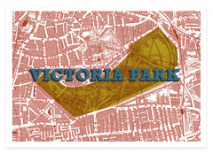 Victoria,Park,(Silver,birch,&,Prussian,blue),victoria park, london maps, affordable art, maps, victorian london, victoriana, green spaces, art prints, screenprints, screen print, pussian blue, silver birch, east london, hackney, london