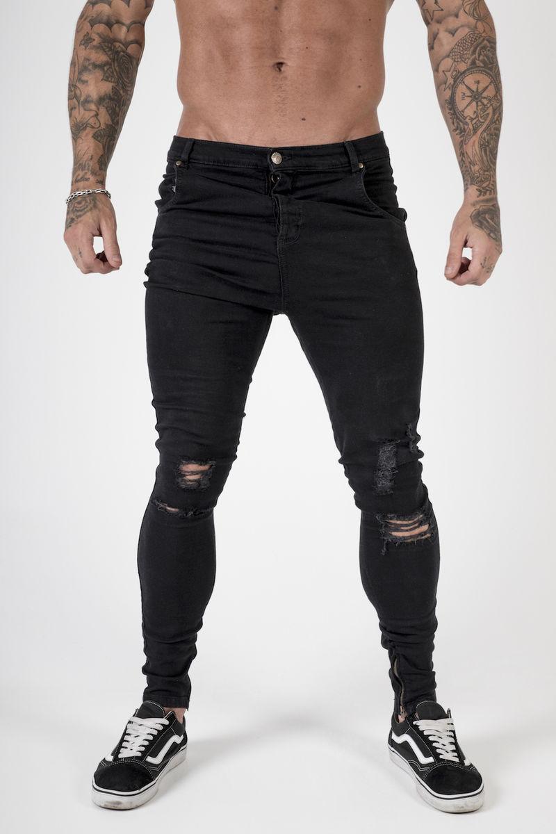 Drop Crotch Skinny Jeans Men