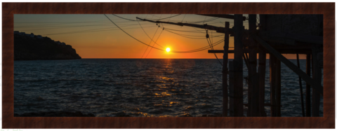 Sunset,Trabucco...,Photography, Fotografie, Italien, Gargano, High-Quality Paper, Art, Digital Art, Trabucco, Meer