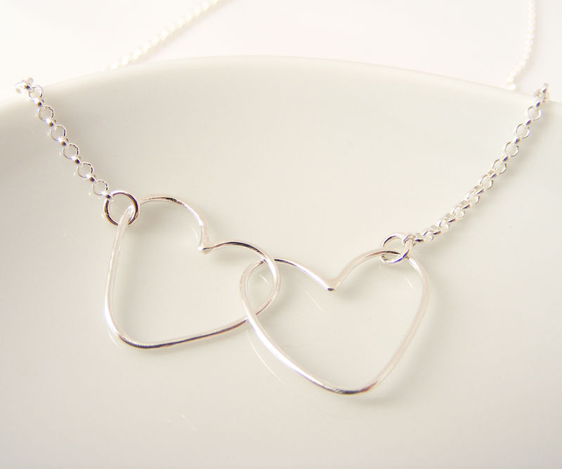 Silver Double Heart Necklace - product image