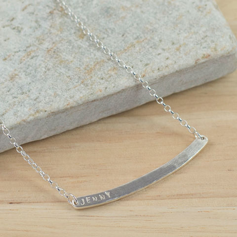 Personalised,Silver,Bar,Necklace,Jewelry,name_plate_necklace,custom_necklace,name_necklace,id_necklace,Tanya_Garfield,free_UK_delivery,UK_handmade,custom_name_necklace,hand_stamped,bar_necklace,personalised,initial_necklace,monogram_necklace