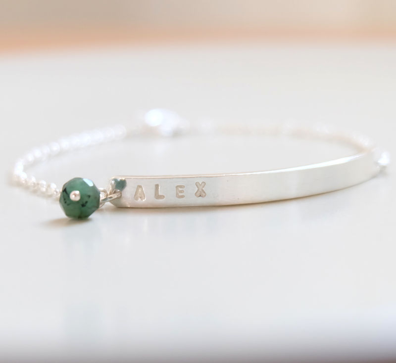 Silver Secret Message Bar Bracelet - product image