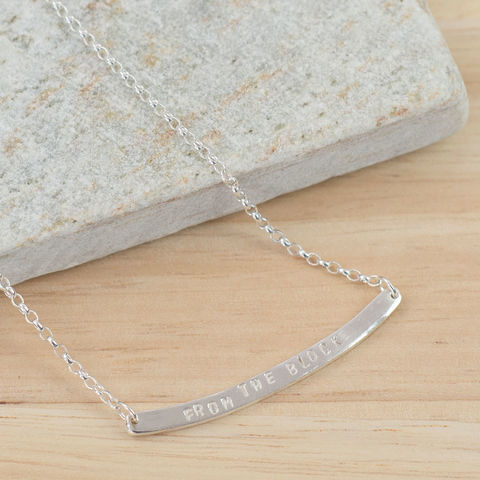 Silver,Secret,Message,Bar,Necklace,sterling silver necklace, handmade sterling silver necklace, hand stamped sterling silver necklace