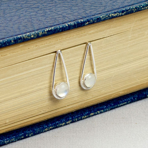 Silver,Moonstone,Teardrop,Earrings,moonstone teardrop earrings, sterling silver earrings, moonstone earrings, sterling silver moonstone earrings