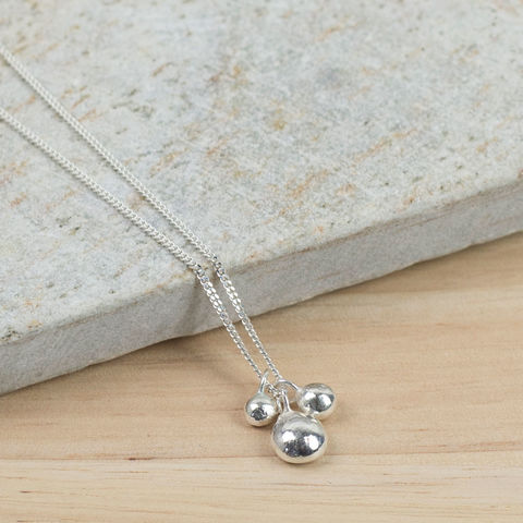 Recycled,Silver,Mother,and,Children's,Necklace,recycled silver necklace, mother and child necklace, new mum necklace, mothers day jewellery