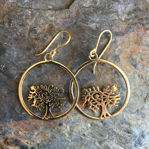 Tree,of,life,handmade,brass,earrings,(nickel-free,),tree of life, nickel-free, handmade,  brass, earrings, boho, gipsy, sexy, discreet, festival, wardrobe