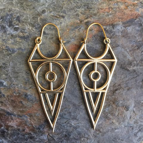 Harry,Potter,inspired,handmade,brass,earrings,(nickel-free),Harry potter, On, the, verge, online, Flower, of, life, nickel-free, handmade,  brass, earrings, boho, gipsy, sexy, discreet, festival, wardrobe