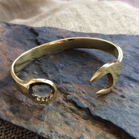Wrench,brass,bangle, wrench, bracelet, bangle, unisex