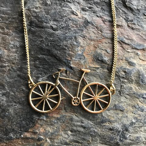 Bicycle,brass,necklace,bicycle, brass, necklace, pendant