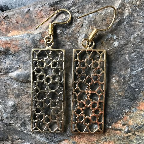 Sacred,geometry:,Islamic,geometric,pattern,sacred, islamic, geometry, brass, earrings