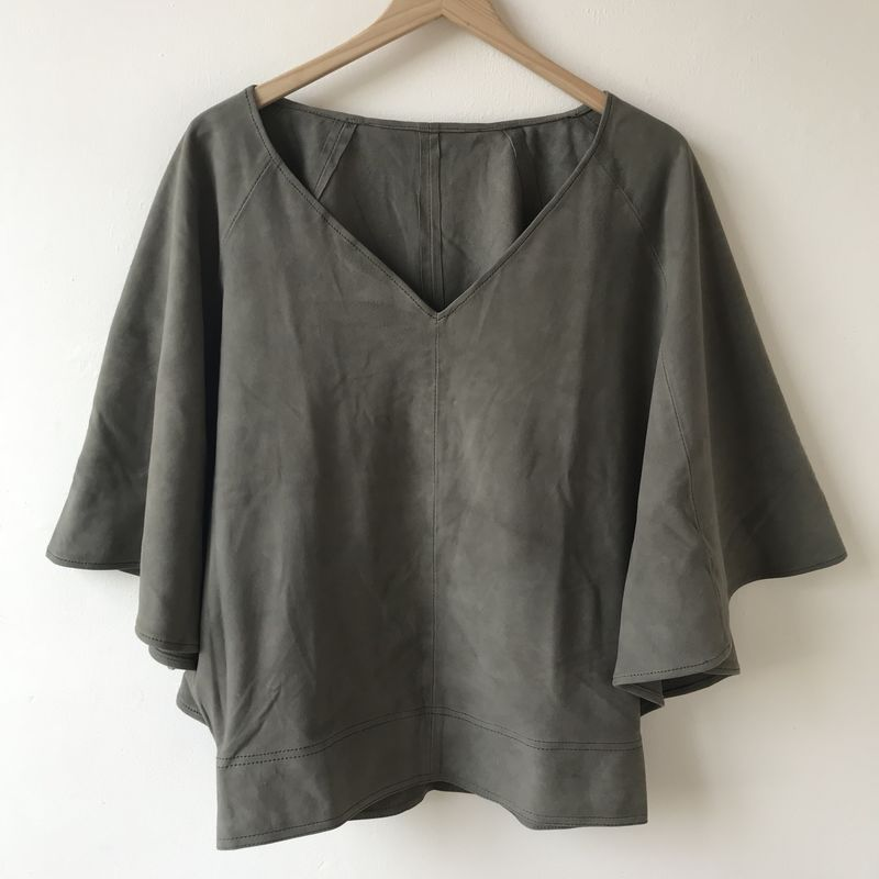 SUEDE TOP: cream, plain - product images  of