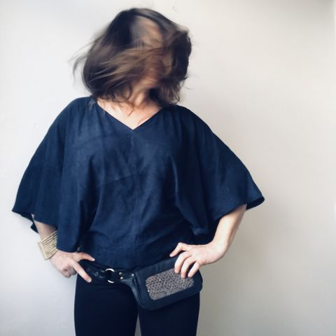 SUEDE,TOP:,blue,,plain