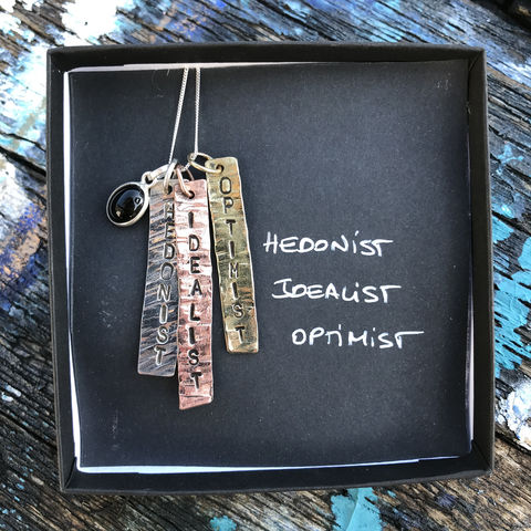 Sterling,silver,,copper,,brass,pendant,set,with,gemstone:,HEDONIST,,IDEALIST,,OPTIMIST,handmade, pendant, set, sterling, silver, copper, brass, in, Ireland, HEDONIST, IDEALIST, OPTIMIST, carnelian