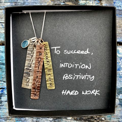 Sterling,silver,,copper,,brass,pendant,set,with,gemstone:,INTUITION,,POSITIVITY,,HARD,WORK,INTUITION, POSITIVITY, HARD WORK, handmade, pendant, set, sterling, silver, copper, brass, IRELAND