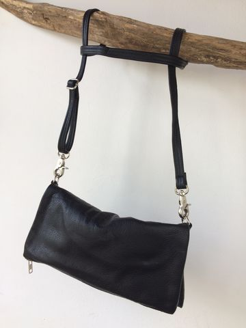 OUTA,black,handbag:,the,essential,one,handmade, black, leather, bag