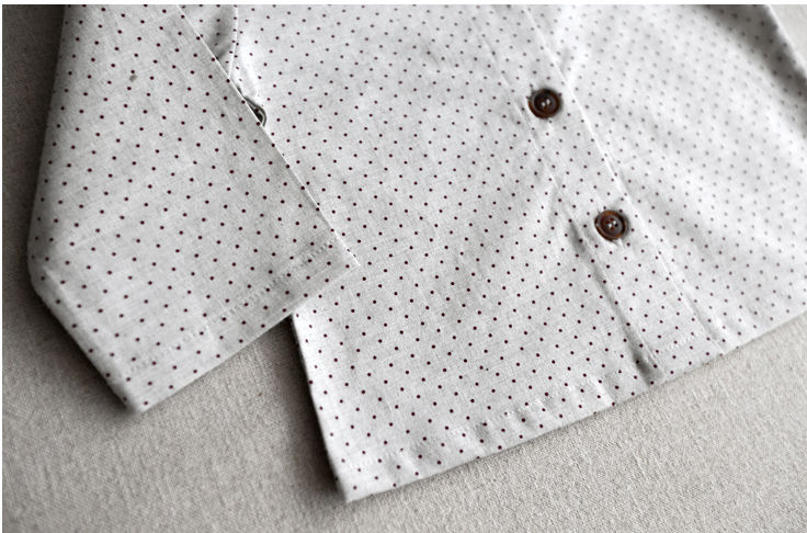 Manaka Dot Blusa Ultimo L!  - Light Gray - product images  of
