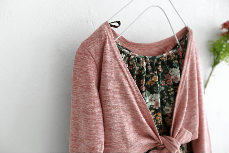 Lip Lap Cardigan - Indi Pink - product images  of