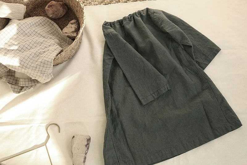 Linen Dress - Gris - product images  of