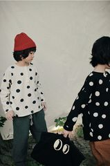 Dot,Loose,Camiseta,-,White,6-7años,therabbithat, bien a bien, the rabbit hat, ropa coreana, ropa infantiles