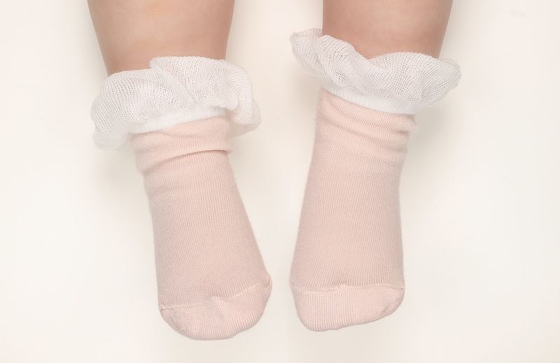 Baby Girl Socks- Pink 12/24mes - product images  of