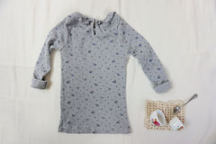 Erie,T-shirt,Gray,8/9anos,ropa infantil, blusa para niñas, ropa coreana, the rabbit hat, amber, fashion mexico, camiseta